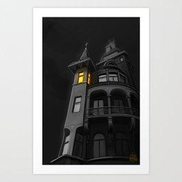 Haunted House (#Drawlloween2016 Series) Art Print