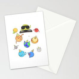How Do You Organize A Space Party? You Planet - Funny Pun Stationery Cards