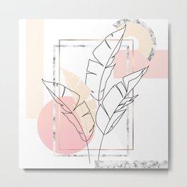 Tropical minimal Metal Print