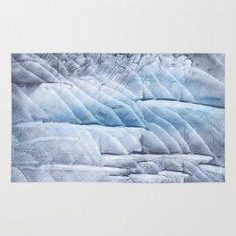 Light steel blue clouded wash drawing Rug