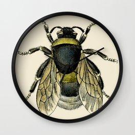 Vintage Bee Illustration Wall Clock