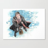 harry potter Canvas Prints featuring Harry Potter  by Dave Seedhouse.com