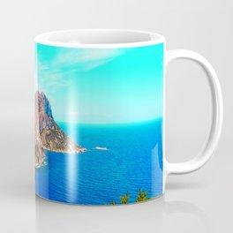Mediterranean Sea Ibiza Balearic Islands rocks coast seascape summer 4k Spain Coffee Mug