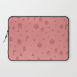 Pink christmas pattern Laptop Sleeve