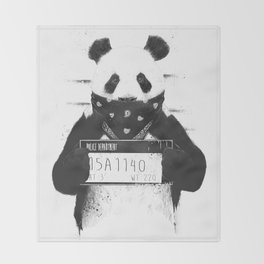 Bad panda Throw Blanket