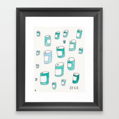 BEERS! Framed Art Print