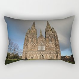 Stormy Clouds Over The Lichfield Cathedral Rectangular Pillow