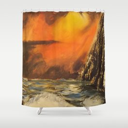 Montezuma's Cliff Shower Curtain