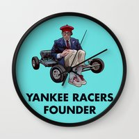 rushmore Wall Clocks featuring YANKEE RACERS FOUNDER (Rushmore, 1998) by Tom Ralston