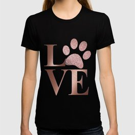 Love is a Four Letter Word - Rose Gold and Marble T-shirt