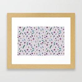 wild flowers pattern Framed Art Print