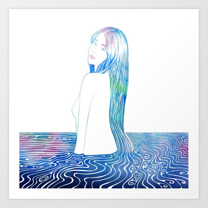 Water Nymph LXXXV Art Print