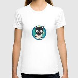 Bathing Cat with bath foam T-shirt