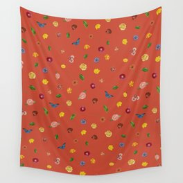 Botanical Red Wall Tapestry
