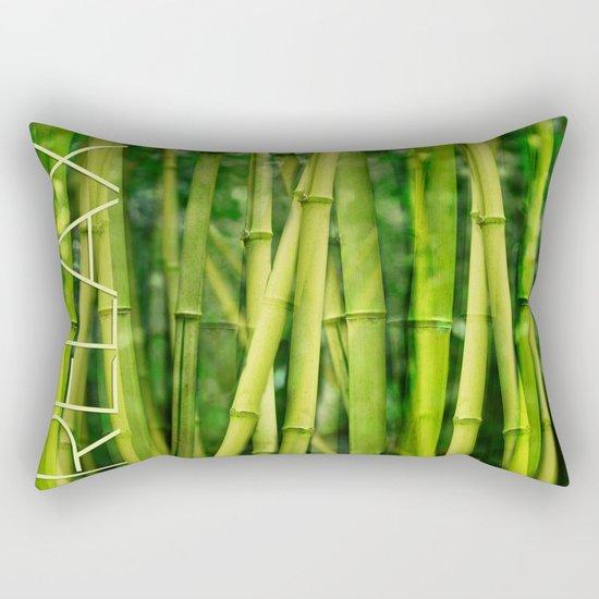Green Bamboo relax zen Rectangular Pillow
