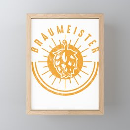 Brewery Brewing Ciders Fermentation Gift Brew Master Beer Brewer Framed Mini Art Print
