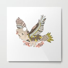 Flying high (a little girl) Metal Print
