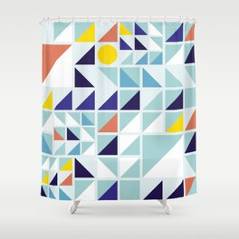 Sunny Geometric Regatta #pattern Shower Curtain