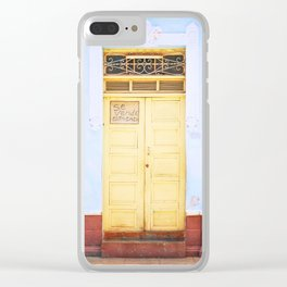 82. Yellow Door and Blue Wall, Cuba Clear iPhone Case