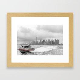 Coast Guard and NYC Framed Art Print