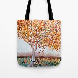 Standing Alone Tree Tote Bag