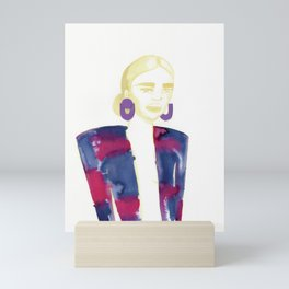 Meg's extravagant cardigan Mini Art Print