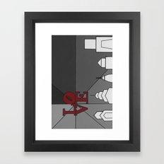 LoveGrey Framed Art Print