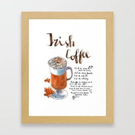 Irish Coffee Poster Framed Art Print