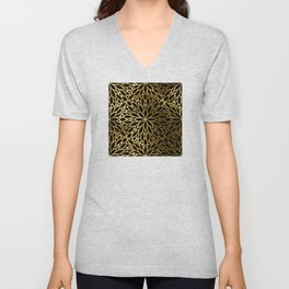 Hollywood Classically Ornate Art Deco Pattern Unisex V-Neck