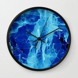 Microcosmos Azul Wall Clock