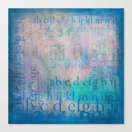 Graffiti in Blue Canvas Print