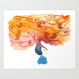 Roar of the lion, song of the bird Art Print
