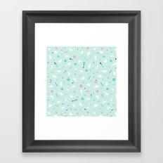 Birds in Silhouette on light blue Framed Art Print