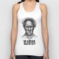 clint eastwood Tank Tops featuring CLINT EASTWOOD  by Ani Dvaladze