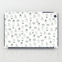 cacti iPad Cases featuring cacti  by Magdalina Dianova