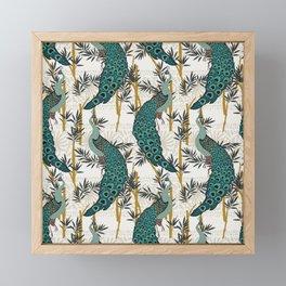 VELVET PEACOCK Framed Mini Art Print