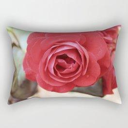 Vintage Red Rose Rectangular Pillow