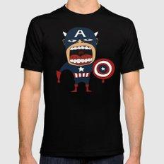 Screaming Captain America MEDIUM Mens Fitted Tee Black