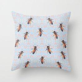 Worker Honey Bee 06 Throw Pillow
