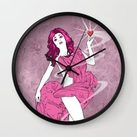 venus Wall Clocks featuring Venus by Andrew Mark Hunter