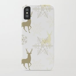 Christmas pattern with snowflakes. iPhone Case