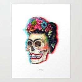 Frida's Skull Art Print