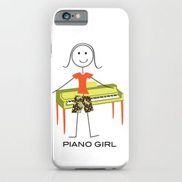 Funny Womens Piano Design, Girl Music Gifts, Piano Girl iPhone Case