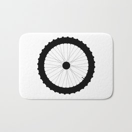 Bicycle Wheel Silhouette Bath Mat