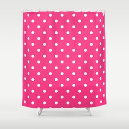 Pink & White Polka Dots Shower Curtain
