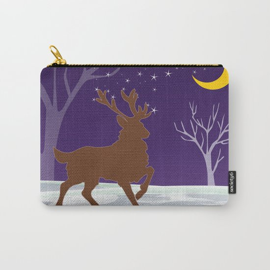 Deer on the ice Carry-All Pouch
