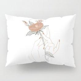 Hand Floral Pillow Sham