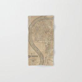 Vintage Map of Chattanooga TN (1885) Hand & Bath Towel