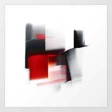 composition with black Art Print