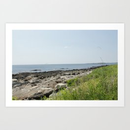 Peak's Island scenic Beach landscape Art Print